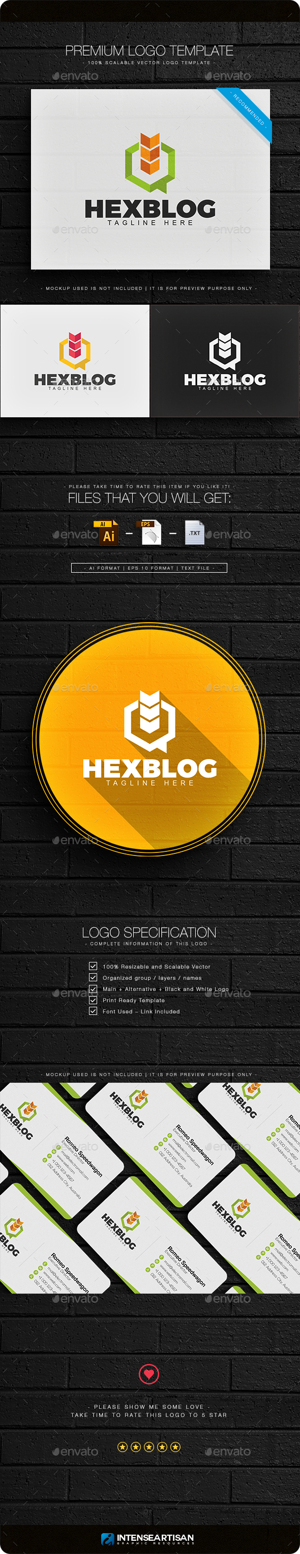 Hex Blog Logo - Objects Logo Templates