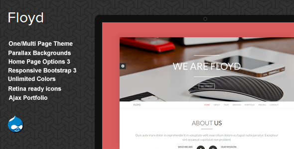 Floyd - One Page Parallax Drupal Theme - Creative Drupal