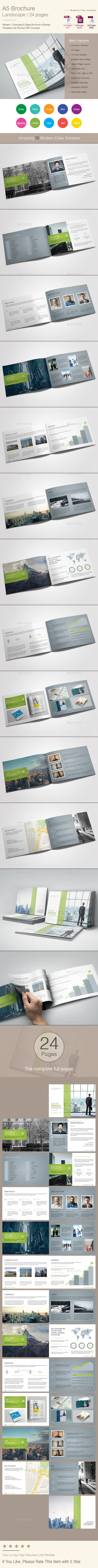 A5 Brochure Landscape - Corporate Brochures