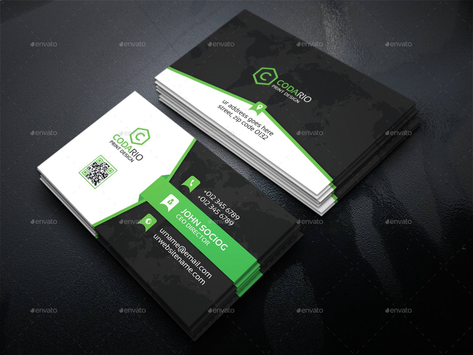 Modern Corporate Business Cards by Labib