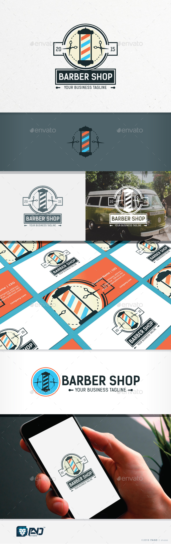 Barber Shop - Symbols Logo Templates