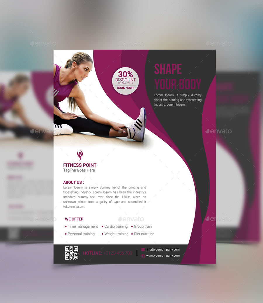 fitness flyer design koni polycode co