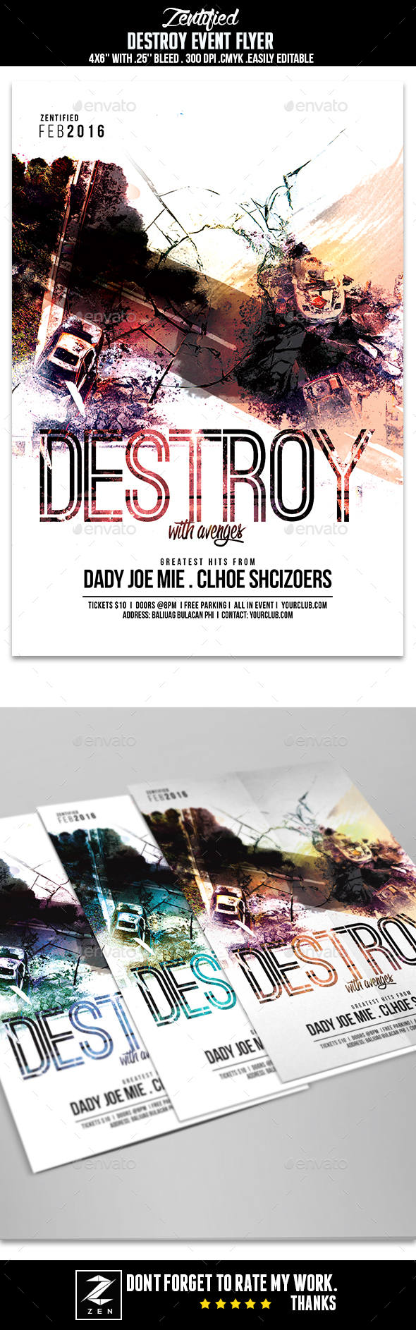 Destroy Event Flyer - Events Flyers