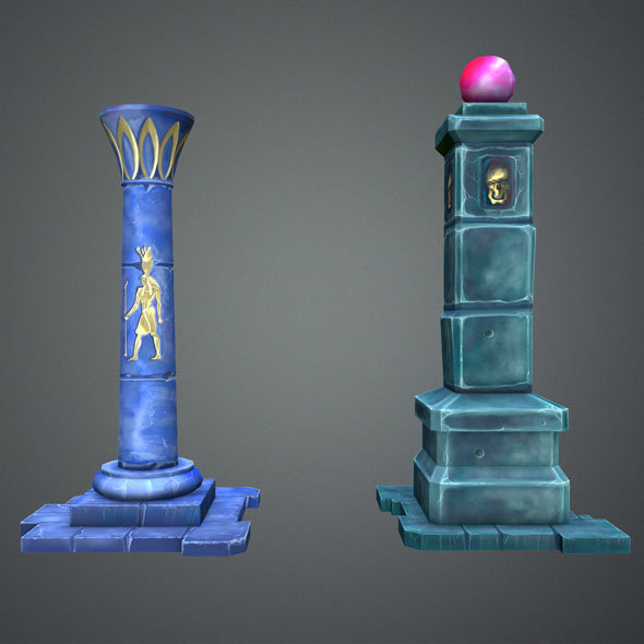 Fantasy Pillar Collection - 3DOcean Item for Sale