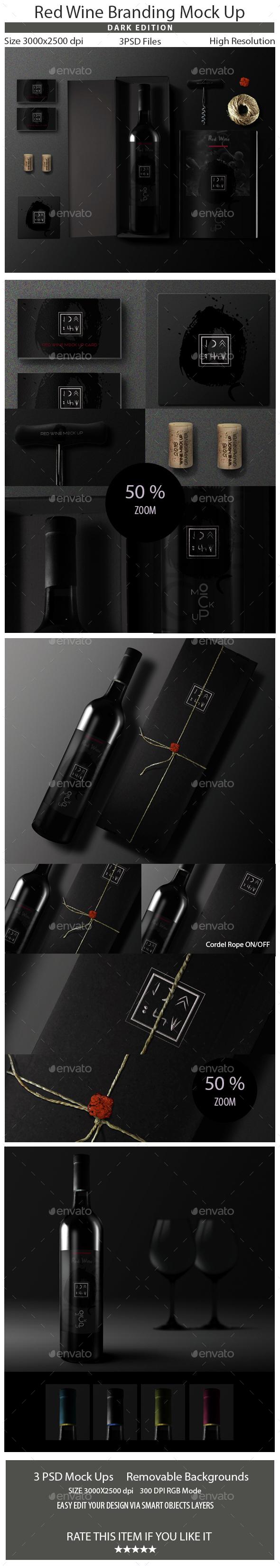 Wine Branding Mock Up - Food and Drink Packaging