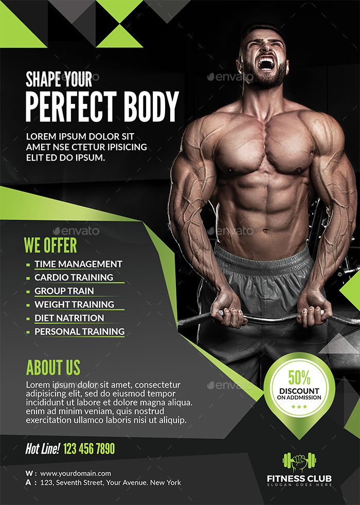 fitness flyer by themedevisers