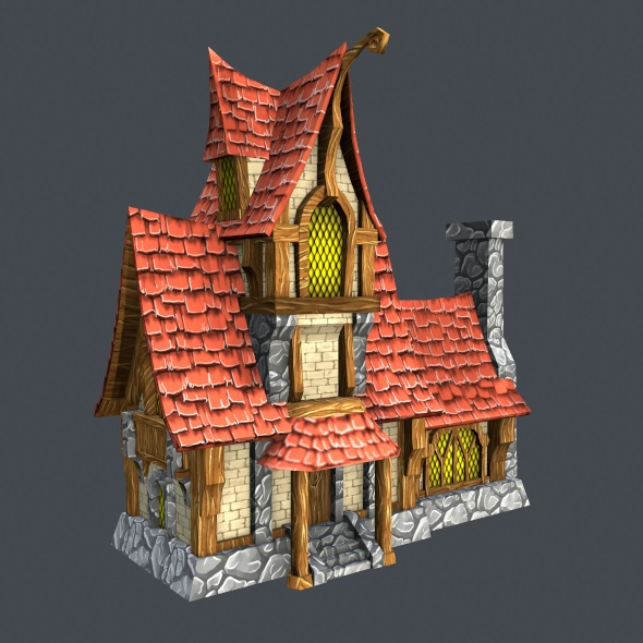Low Poly Fairytale House
