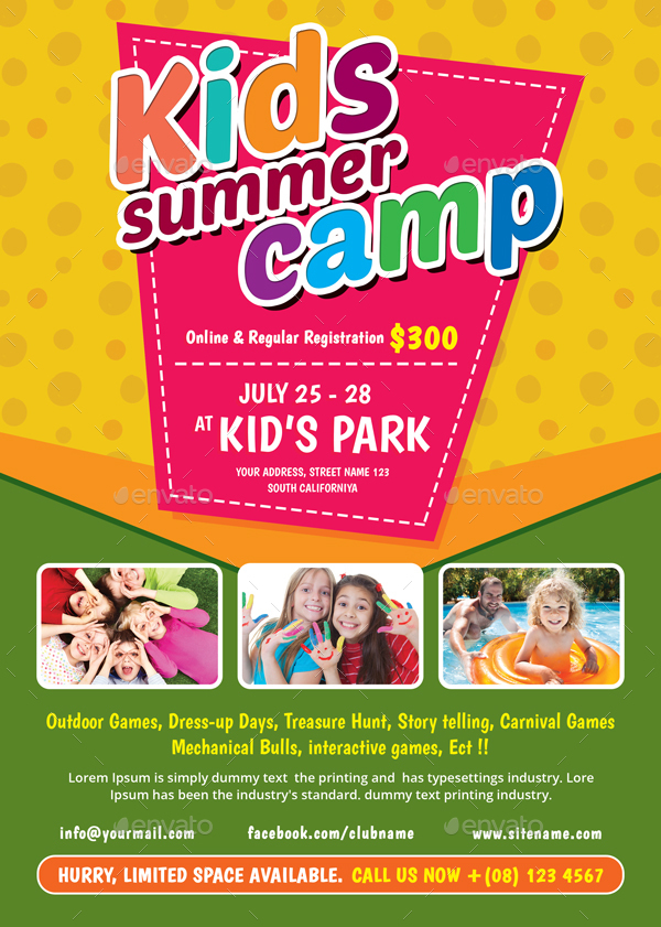 Kids Summer Camp Flyer By Themedevisers | Graphicriver