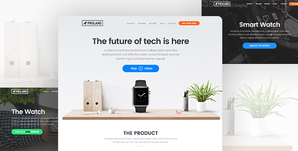 Product Landing Page Template - Proland - Marketing Corporate