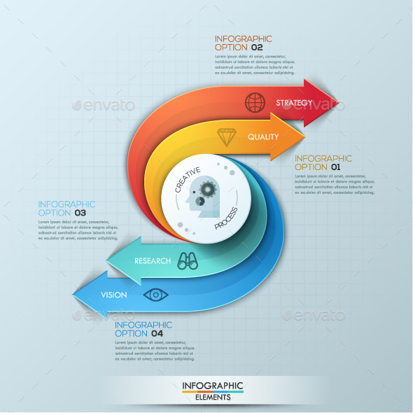 Modern Infographic Creative Process Template - Infographics