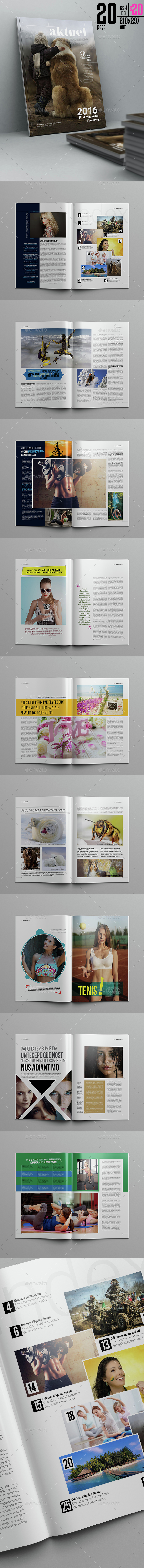 Aktuel Magazine Template 20 Page - Magazines Print Templates