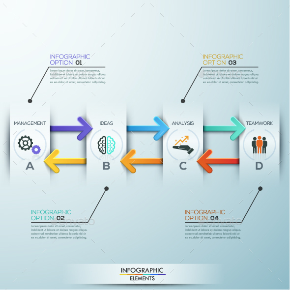 Modern infographic paper arrows template by andrewkras graphicriver modern infographic paper arrows template ccuart Image collections
