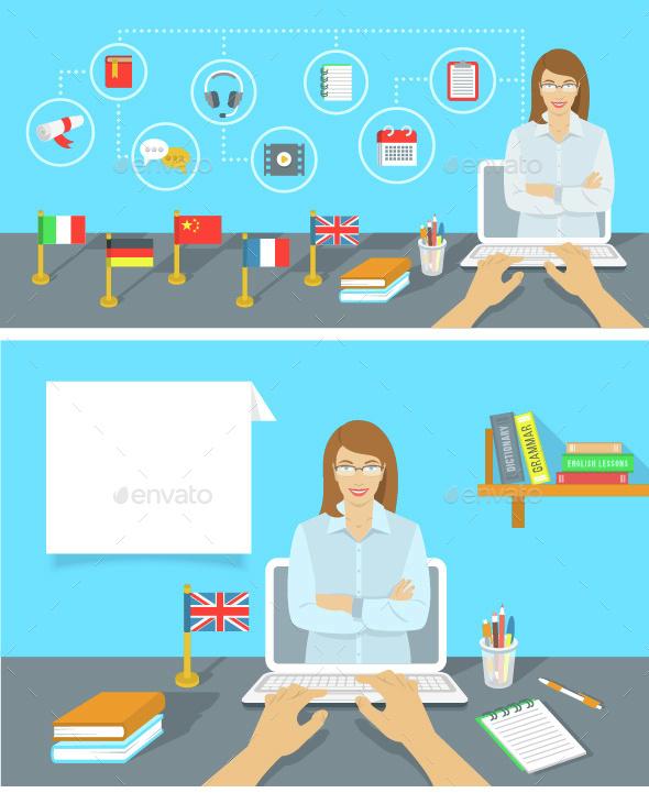 Language Class  Online Education Concept - Web Technology