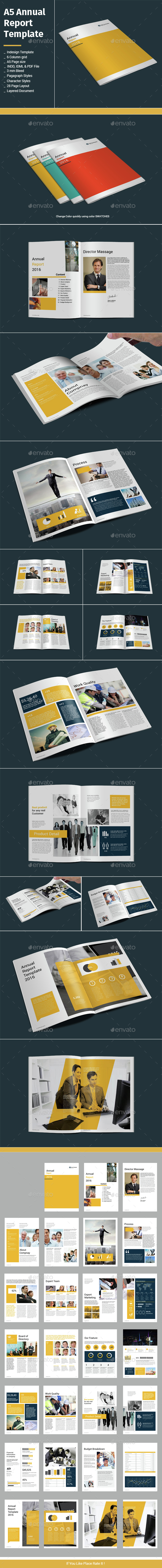 A5 Annual Report Template - Informational Brochures