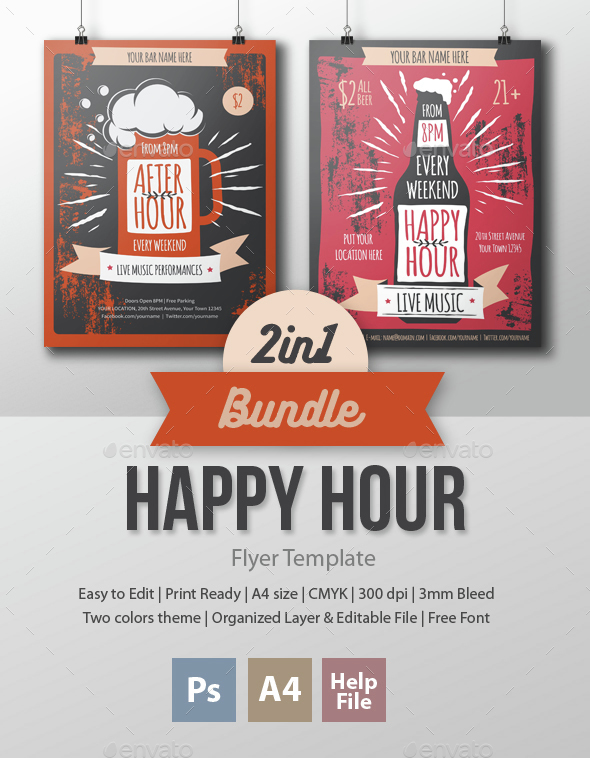 Happy Hour - 2 in 1 Bundle - Clubs & Parties Events