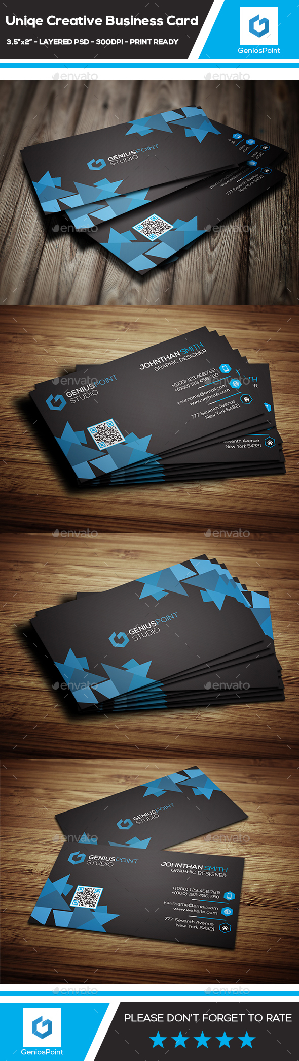 Unique Creative Business Card - Business Cards Print Templates