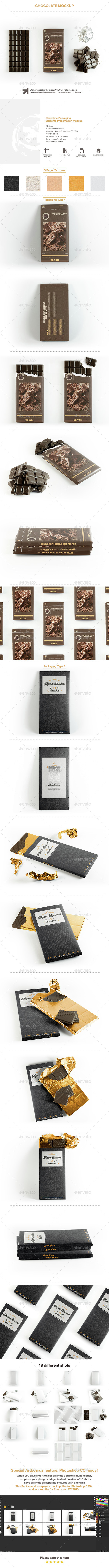 Chocolate Bar Packaging Mockup - Food and Drink Packaging