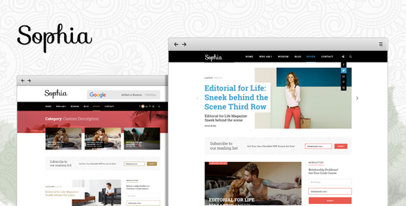 Sophia – Creative Blog WordPress Theme