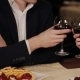 Happy Couple Have a Romantic Date In a Fine Dining Restaurant They Drink Wine  - VideoHive Item for Sale