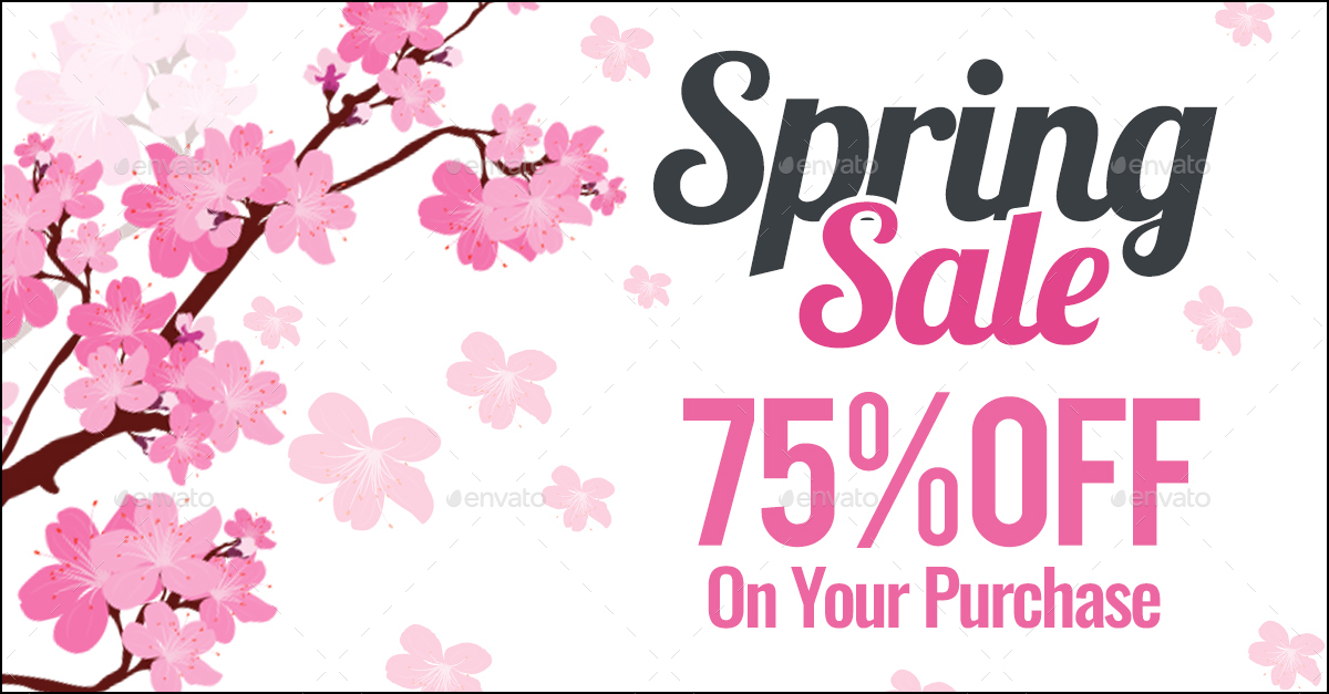 Spring Sale Facebook Banners - 10 Designs - 20 Banners