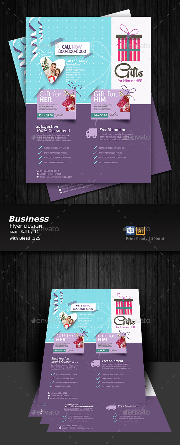 Gift Shop Flyer Design   - Flyers Print Templates