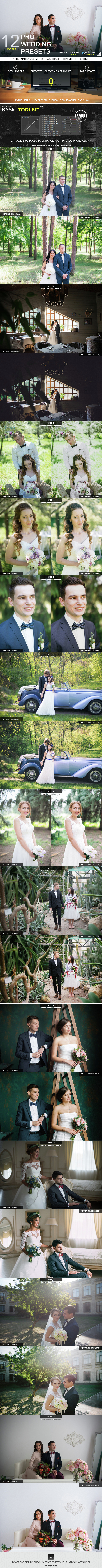 12 Pro Wedding Presets - Wedding Lightroom Presets
