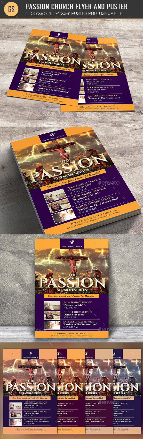 Passion Flyer Poster Template - Church Flyers