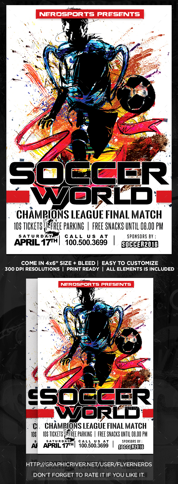 World of Soccer Championships Sports Flyer  - Sports Events