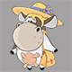 Cartoon Illustration of Happy Cows for you Design  - GraphicRiver Item for Sale