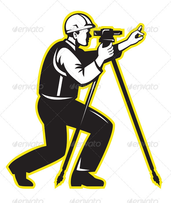 Surveyor Engineer Theodolite Total Station - People Characters