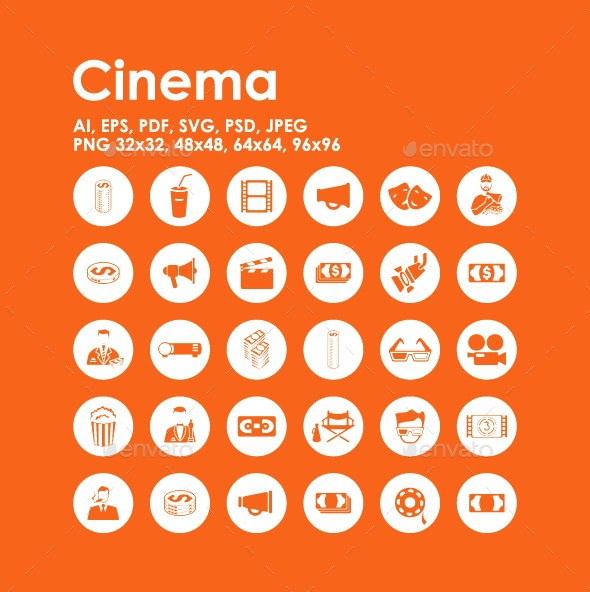 30 Cinema icons - Media Icons