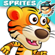 Tiger Warrior 2 Game Character Sprites 206 - GraphicRiver Item for Sale