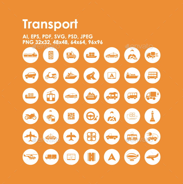 42 Transport icons - Objects Icons
