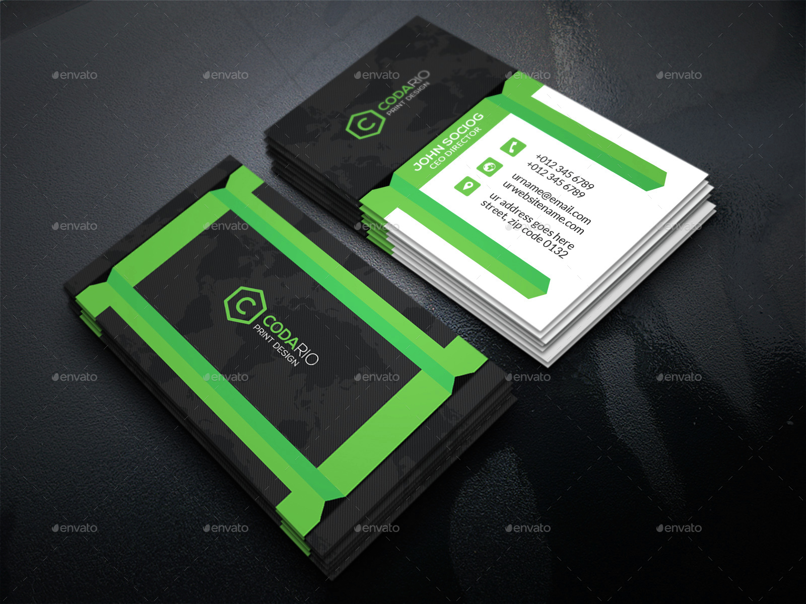 Modern creative business cards by labib graphicriver modern creative business cards reheart Gallery