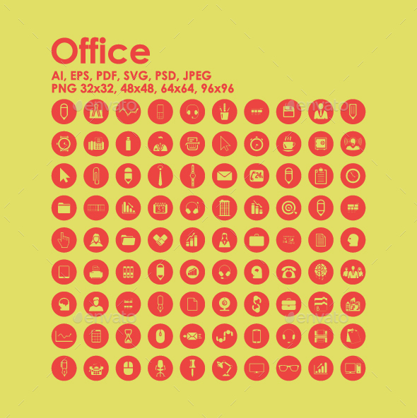 90 Office icons - Business Icons