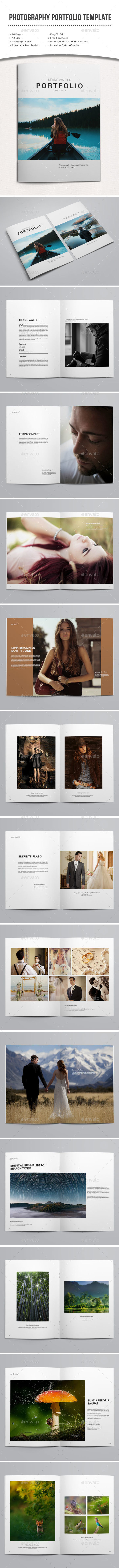 photography portfolio template  - Portfolio Brochures