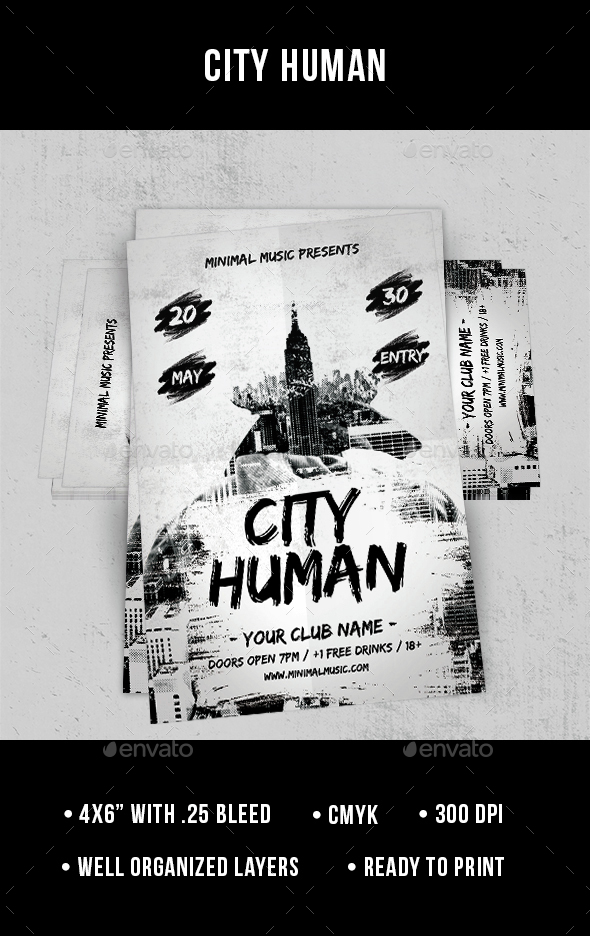 City Human - Flyer - Clubs & Parties Events
