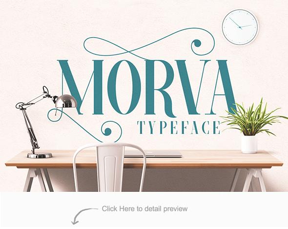 MORVA Typeface - Serif Fonts