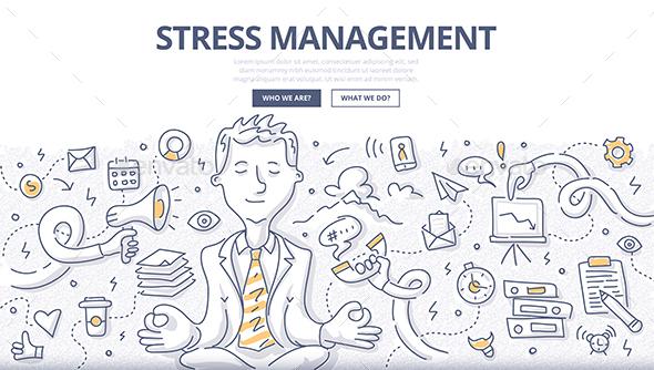 Stress Management Doodle Concept - Concepts Business