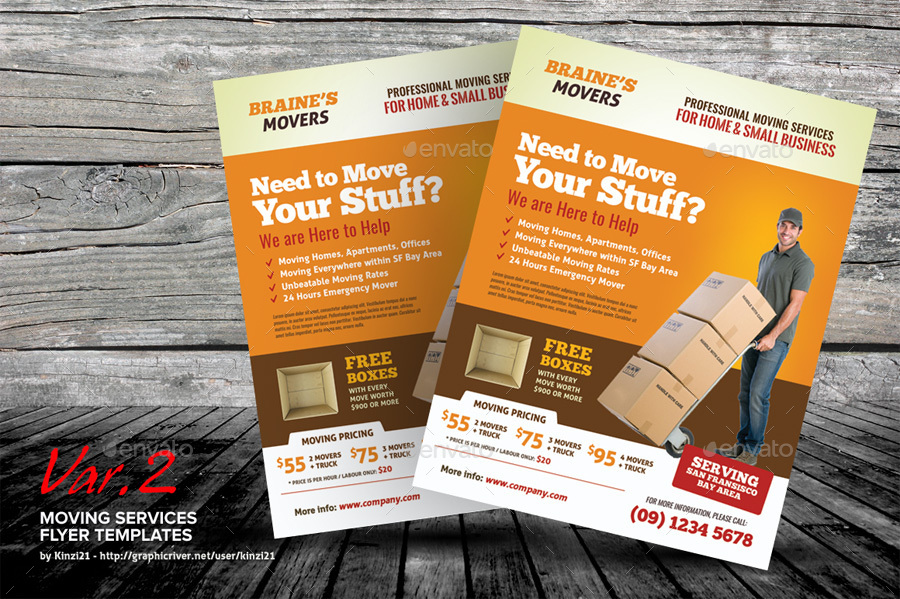 moving service flyer