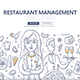Restaurant Management Doodle Concept - GraphicRiver Item for Sale