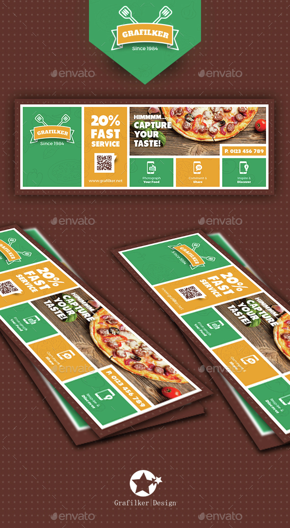 Pizza Shop Cover Templates - Facebook Timeline Covers Social Media
