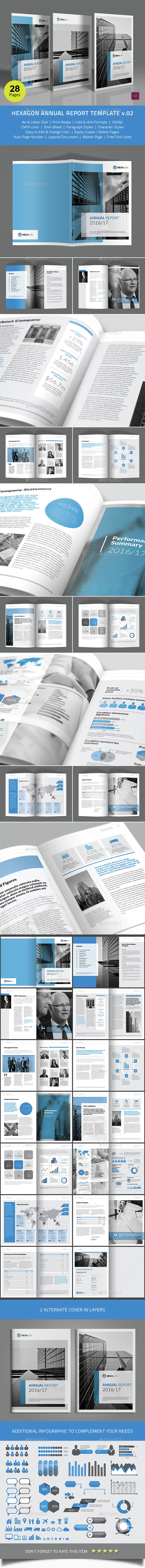Hexagon Annual Report Template v02 - Corporate Brochures