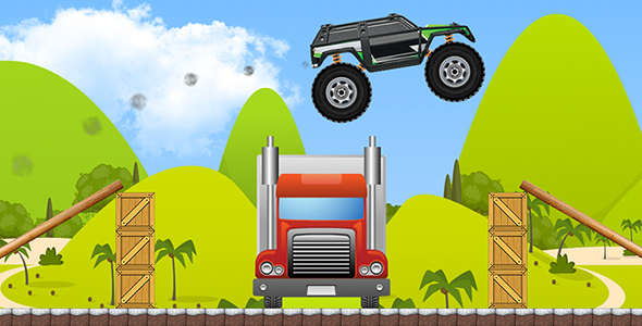 Monster Truck with AdMob and Leaderboard - CodeCanyon Item for Sale