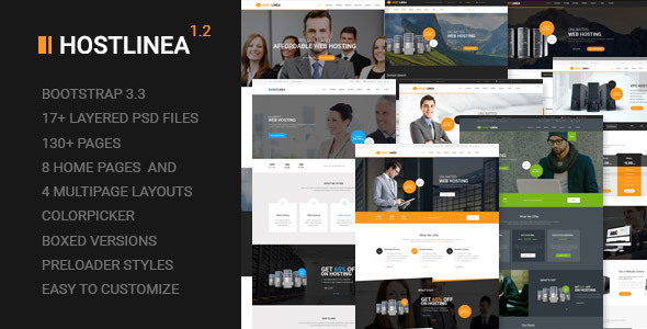 Hostlinea - Web Hosting, Responsive WP Theme
