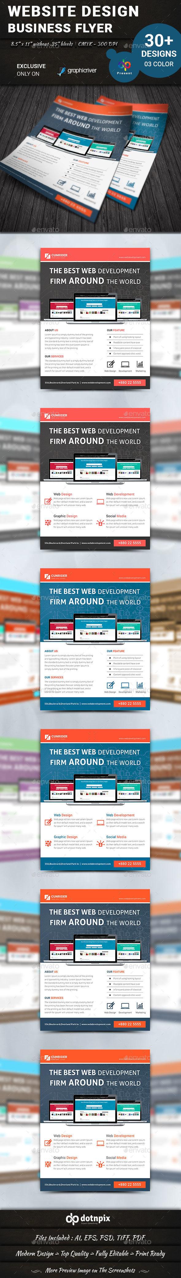 Website Design Flyer   Volume 1 - Corporate Flyers