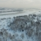 Flying Over The City. City River In Winter. Bridge Over River - VideoHive Item for Sale