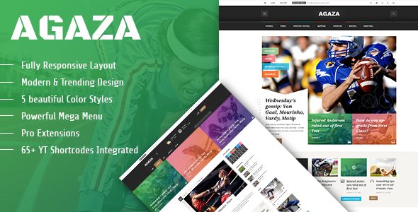 Agaza – Responsive Joomla Template For News/Magazines