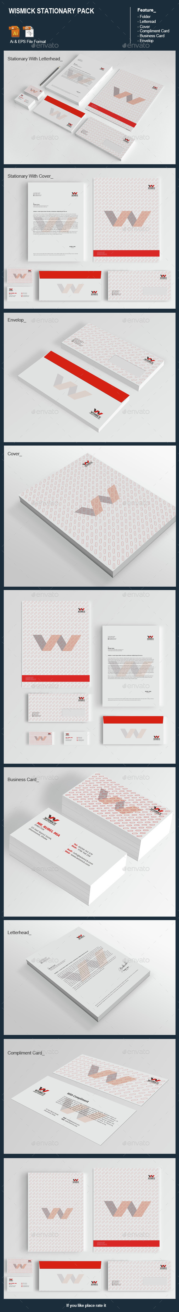 Wismick Stationary Pack - Stationery Print Templates