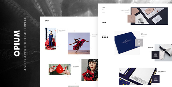 Opium – agency & portfolio psd template